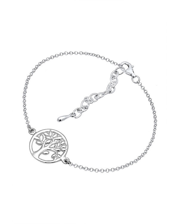 Elli Armband Lebensbaum Kreis Blatt Floral 925 Sterling Silber silber