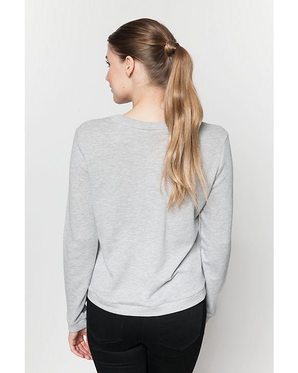 VERO MODA Sweatshirt hellgrau