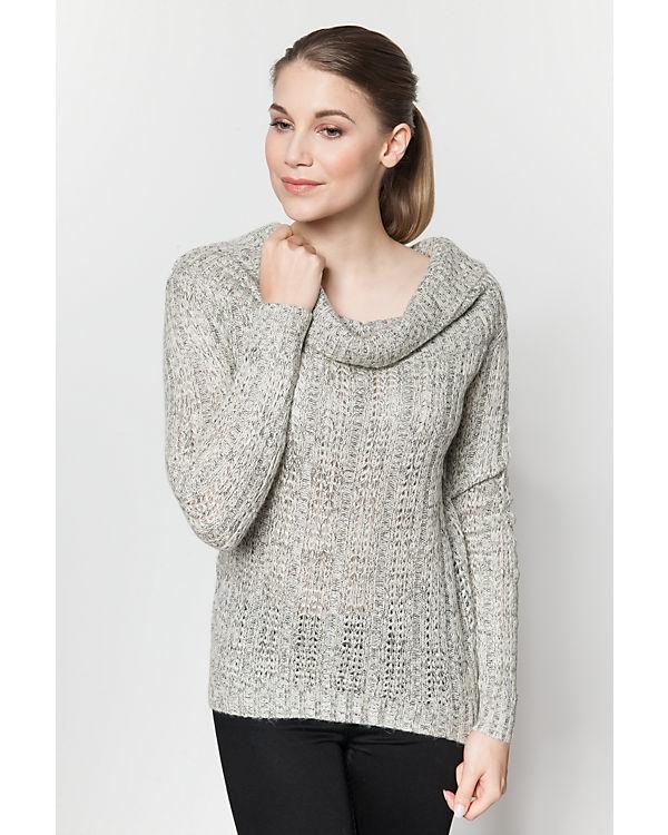 VERO MODA Off-Shoulder Pullover hellgrau