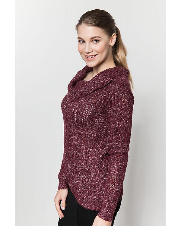 VERO MODA Off-Shoulder Pullover rot