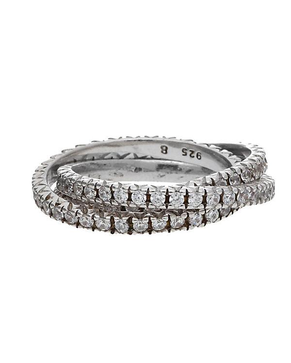 ESPRIT Ring 925 Silber Brilliance Triple ESRG91885B silber