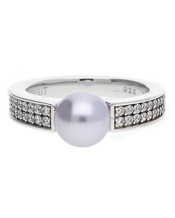 ESPRIT Ring 925 Silber Lila Precious Glam Sunset ESRG91587C silber