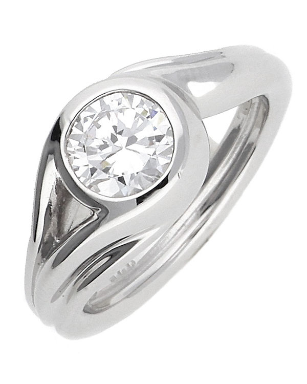 ESPRIT Ring 925 Silber Glamour Solitaire ESRG92036A silber