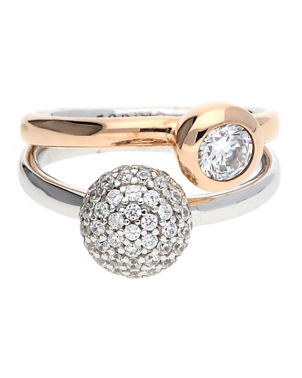 ESPRIT Ring 925 Silber Double Embrace Glam ESRG92396A gold