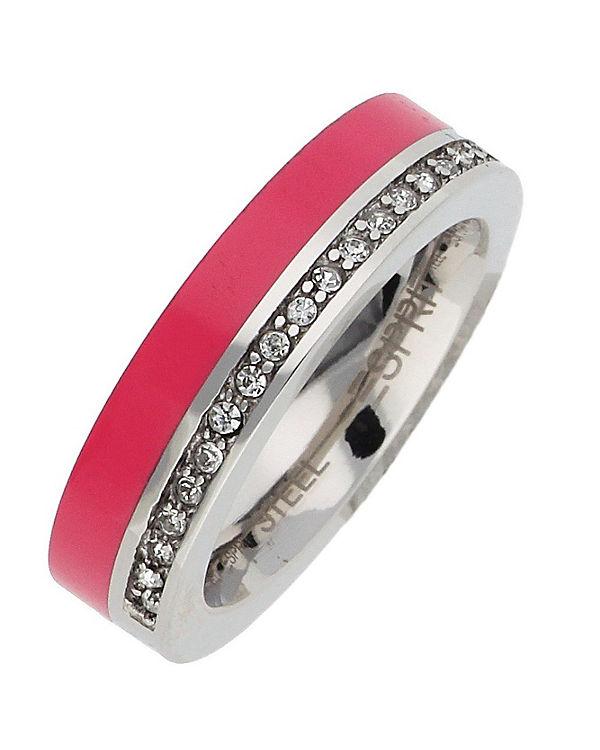 ESPRIT Ring Marin 68 Glam ESRG11565B silber
