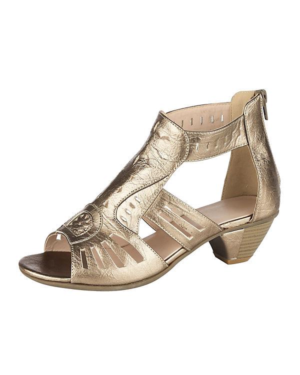 T-Steg-Sandaletten gold