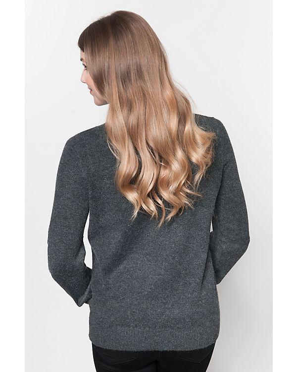 VILA Pullover dunkelgrau
