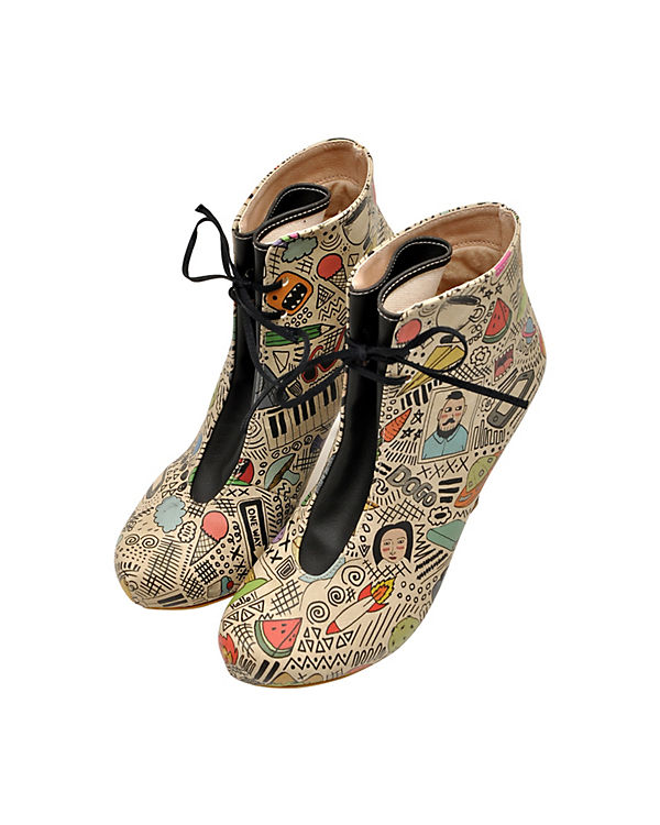 Ankle Boots Bootie doodle mehrfarbig