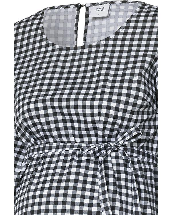 mamalicious Umstandskleid MLGIGI schwarz/weiß
