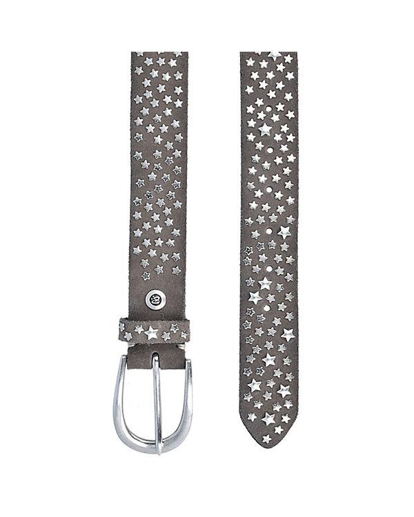 b.belt Ledergürtel 85 cm grau