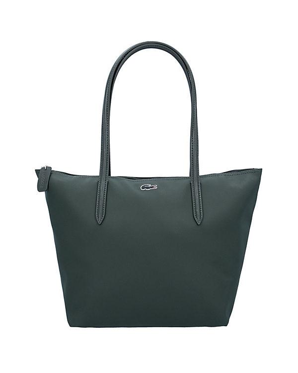 LACOSTE Handtasche Sac Femme L1212 Concept Schultertasche 24 cm grau/grün