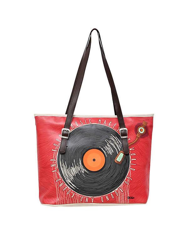 Dogo Shoes Umhängetasche Fitbag Phonograph bunt