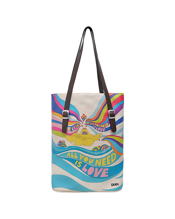 Dogo Shoes Umhängetasche Tall Bag All you need is love bunt