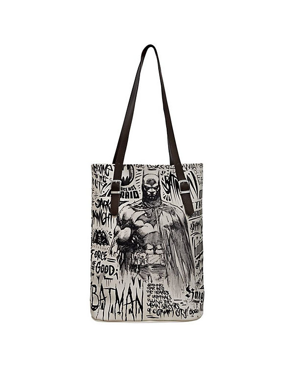 Dogo Shoes Umhängetasche Tall Bag Batman sketch bunt
