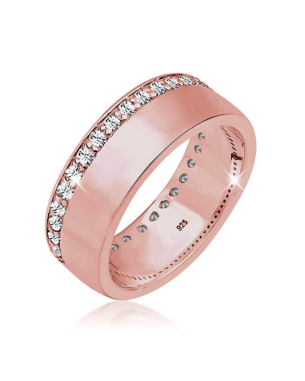 Elli Elli Silber Ring Funkelnd Swarovski® Kristalle 925 Sterling rosa