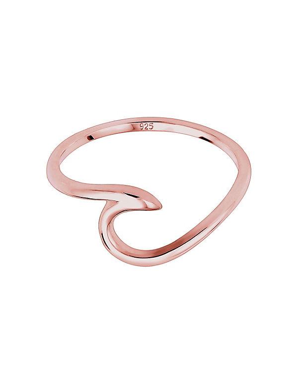 Elli Elli Silber Ring Wellen Wave Strand Maritim 925 Sterling rosa