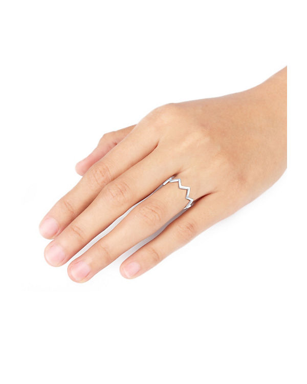 Elli Elli Silber Ring Geo Zick Zack Trend Blogger 925 Sterling silber