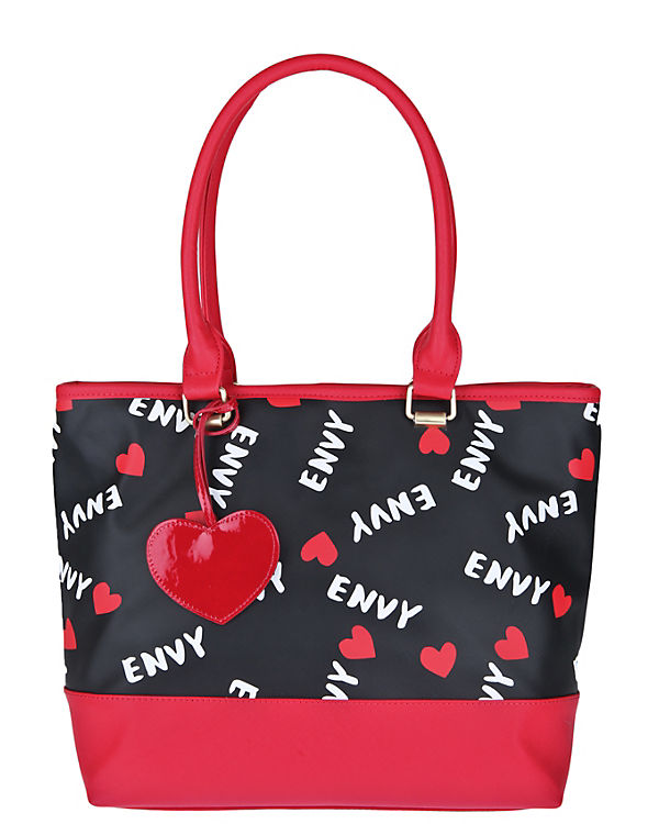 House of Envy Handtasche HEART TO HEART schwarz/rot