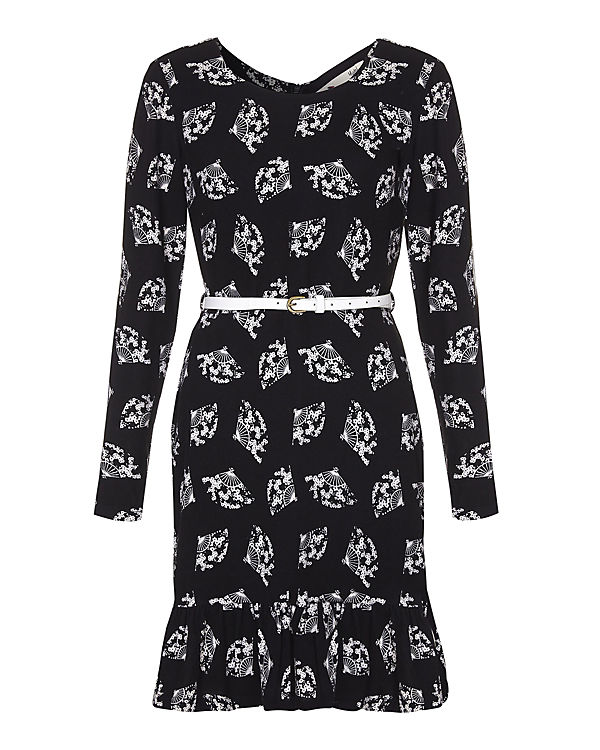 Yumi Jerseykleid schwarz