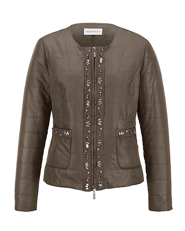 Amy Vermont Steppjacke natur/oliv