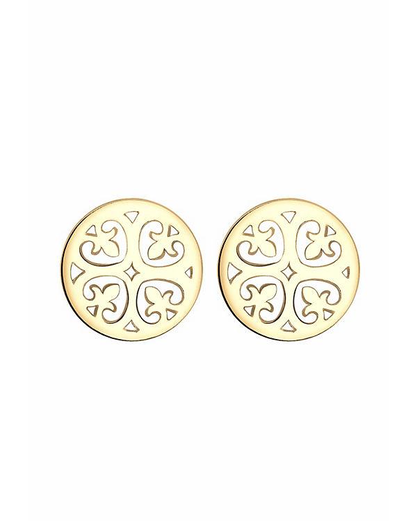 Elli Ohrringe Ornament Orientalisch Filigran 925 Silber gold