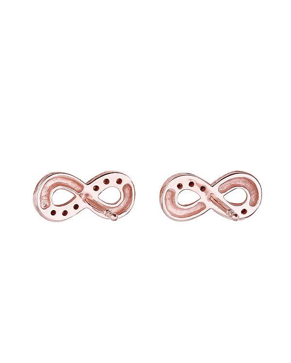 Elli Ohrringe Infinity Symbol Swarovski® Kristalle 925 Silber rosa