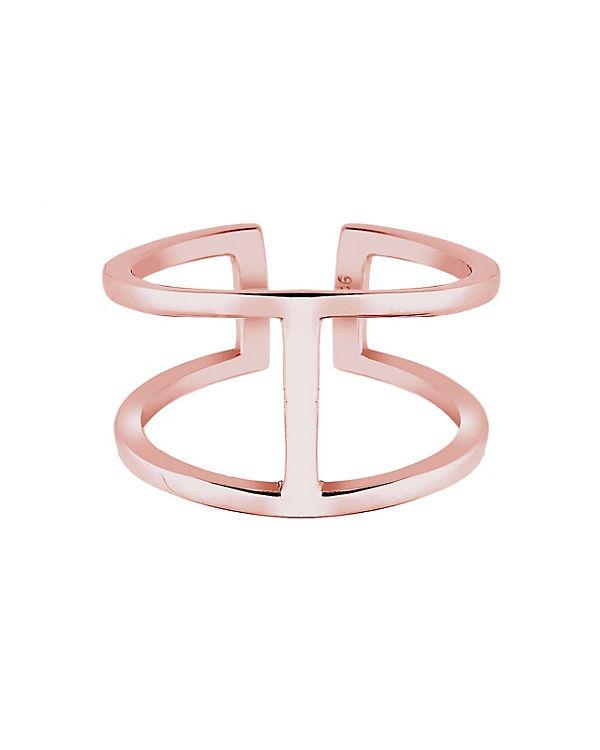 Elli Ring Geo Minimal Trend 925 Sterling Silber rosa