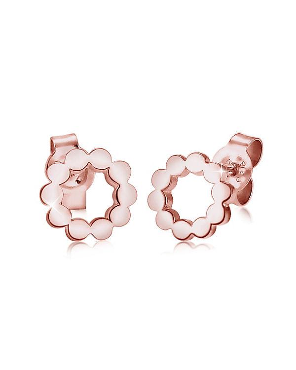 Elli Ohrringe Kreis Circle Geo Minimal 925 Sterling Silber rosa