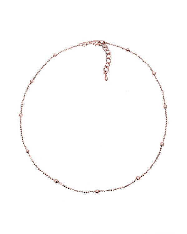 Elli Halskette Basic Choker Kugeln 925 Sterling Silber rosa