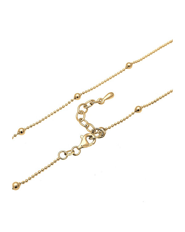 Elli Halskette Basic Choker Kugeln 925 Sterling Silber gold