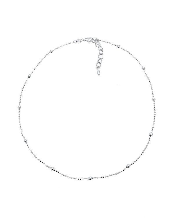 Elli Halskette Basic Choker Kugeln 925 Sterling Silber silber
