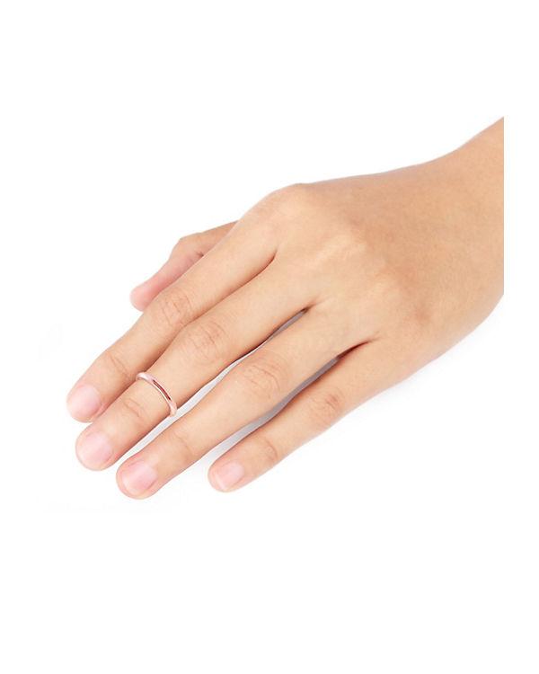 Elli Ring MIDI Knuckle Minimal Trend 925 Sterling Silber rosa