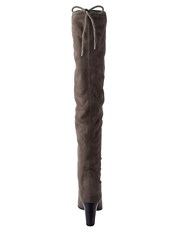 Overknee-Stiefel dunkelgrau