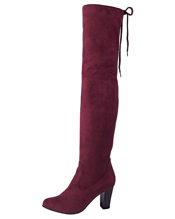 Overknee-Stiefel bordeaux