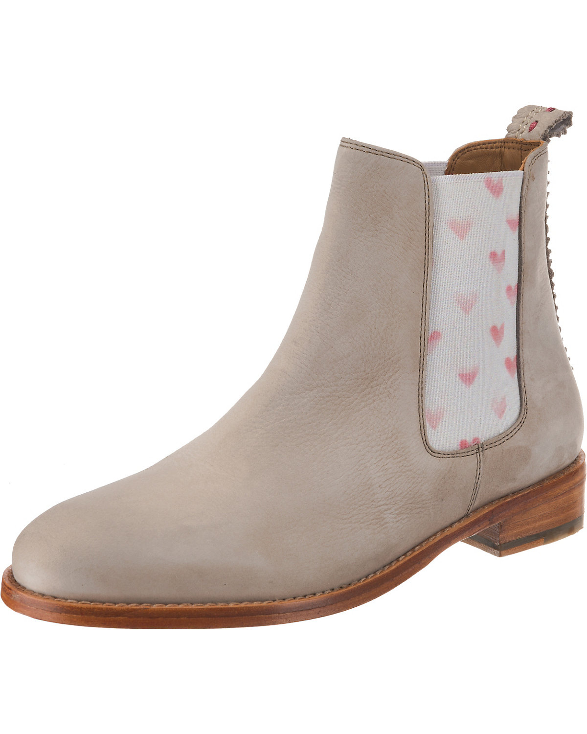CRICKIT, Torrente elastic hearts faded red Chelsea Boots, beige