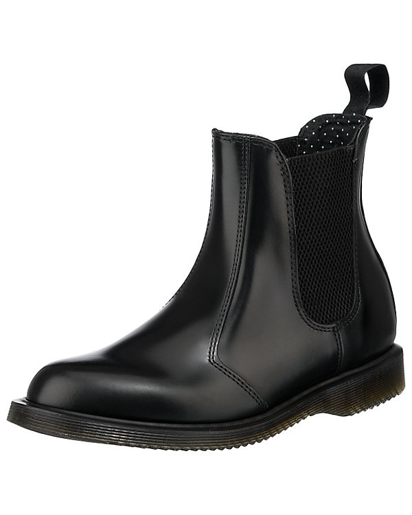 Dr. Martens, BLACK FLORA Polished Smooth BLACK Martens, Chelsea Boots, schwarz 1e3c36
