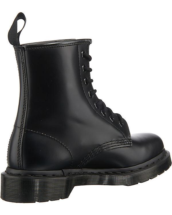 Dr. Black Martens, 1460 MONO Smooth Black Dr. Schnürstiefeletten, schwarz ee9380