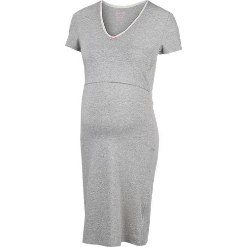 BOOB Stillnachthemd grau Damen Gr. 38