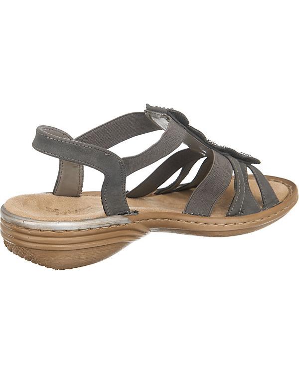 rieker Neapolis Komfort-Sandalen grau
