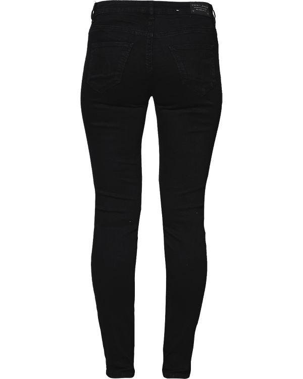 ESPRIT Rise Medium Skinny schwarz Jeans q4wxgqavrB