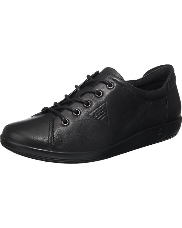 ecco Soft 2.0 Black Feather with Black Sole Halbschuhe
