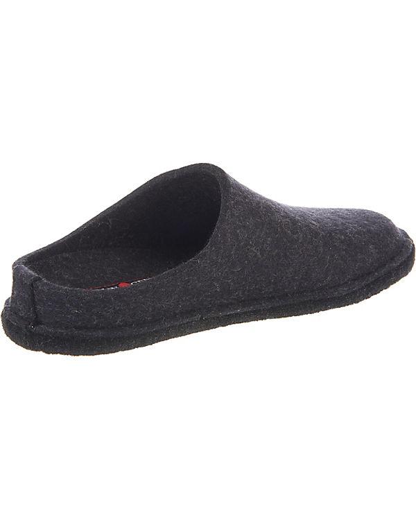HAFLINGER Soft Pantoffeln dunkelgrau