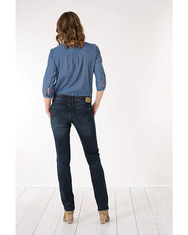blue Emilia Straight Jeans denim dark TIMEZONE gnvxBx