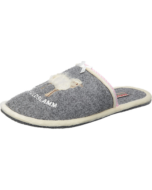 Adelheid Pantoffeln grau
