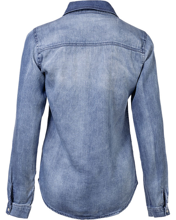 VILA Jeanshemd blue denim