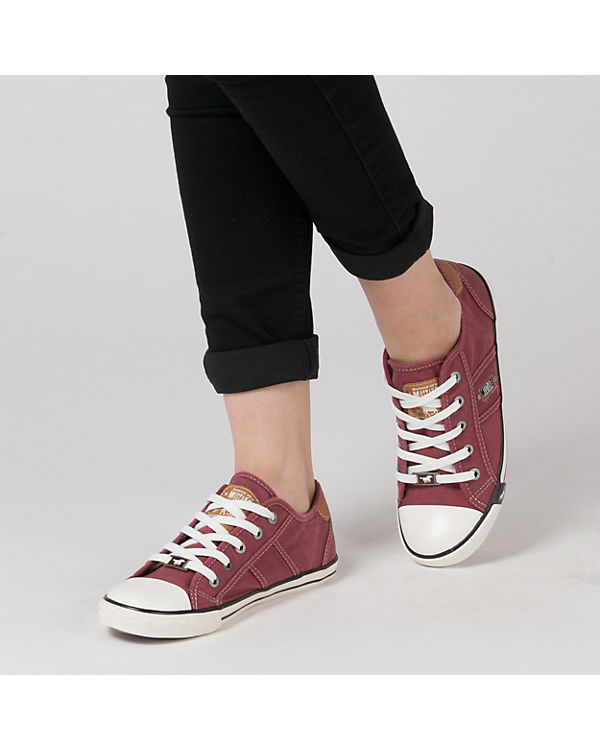 MUSTANG Sneakers Low bordeaux