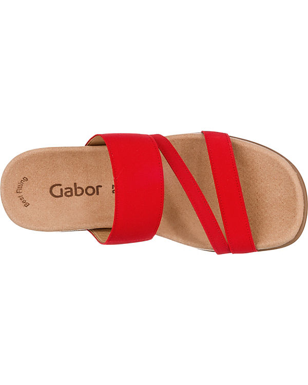 Gabor Gabor Pantoletten rot Komfort Komfort Y4nvwqU0q