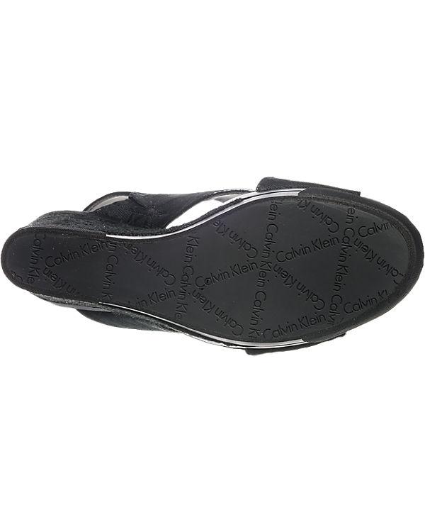 CALVIN Sandaletten schwarz Elaine JEANS KLEIN CALVIN KLEIN JEANS f8HxqvwHa1