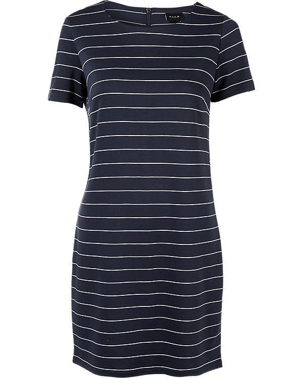 VILA Kleid blau/weiß