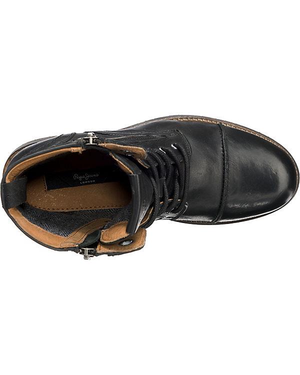 Pepe Boots, Jeans, MELTING W.ZIPPER Biker Boots, Pepe schwarz d2a96e